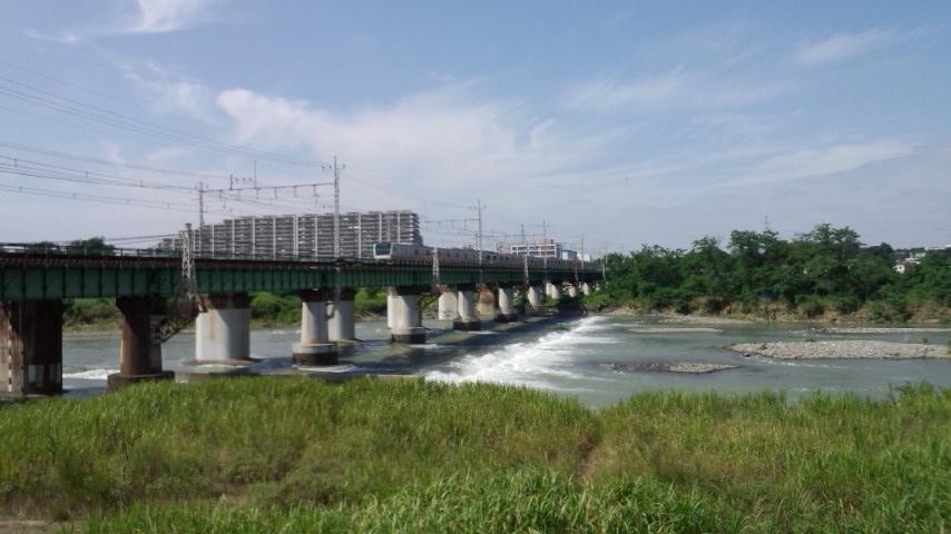 多摩サイ 右岸 多摩川橋梁