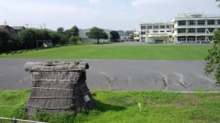 滝合小学校 竪穴式住居 8.8
