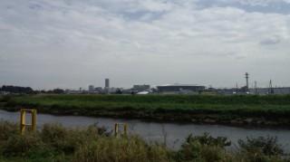 鶴見川サイクリング 小机大橋付近