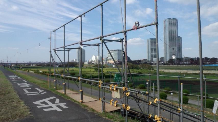 多摩川花火大会2011 二子新地付近