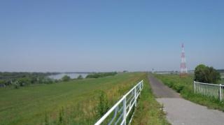 新利根川橋 利根川サイクリングロード