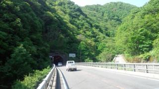 国道118号 大川ダム(若郷湖)手前