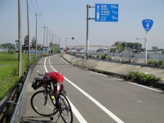 新国道4号バイパス 自転車で東北へ