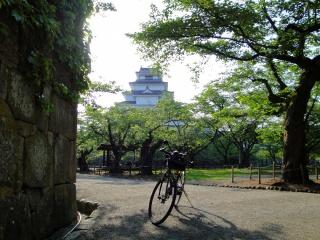 会津若松城(鶴ケ城)サイクリング