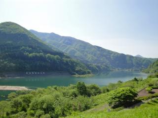 国道118号線 大川ダム(若郷湖)