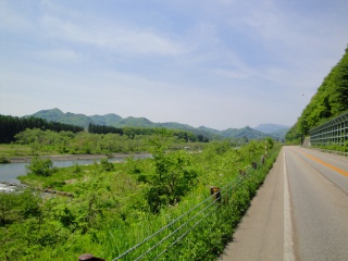 国道121号線 田島高校駅 付近