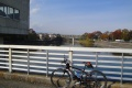 多摩川サイクリングロード 小作取水堰