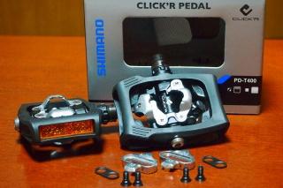 シマノ CLICK'R PD-T400 ビンディングペダル
