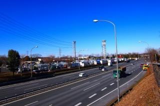 関越自動車道 三芳パーキングエリア付近