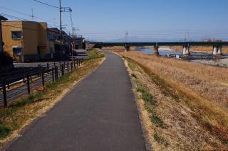 多摩サイ上流右岸 JR中央線 行き止まり