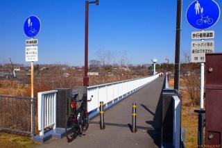 多摩サイ 羽村下橋(人道橋)
