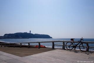 境川CRで江ノ島へ