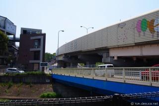 湯殿川 北野駅付近