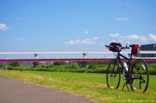 多摩川サイクリングロード 立日橋付近