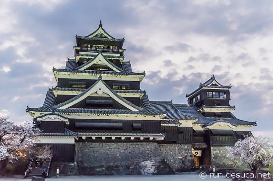 夕方の熊本城