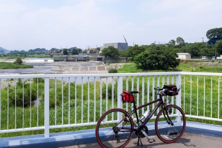 多摩サイ 羽村堰 人道橋