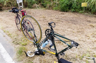 荒川サイクリング パンク