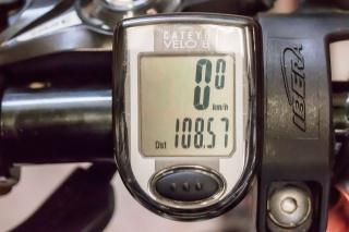 荒川サイクリング2014.9 サイコン108.57km
