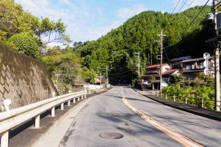 成木街道 黒沢付近