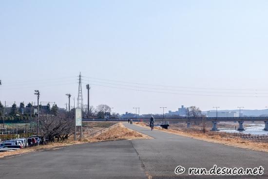 多摩サイ 左岸 立日橋