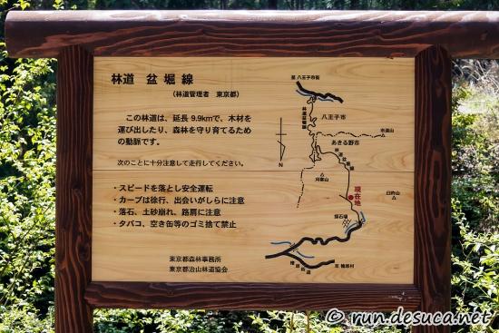 入山峠 盆堀林道