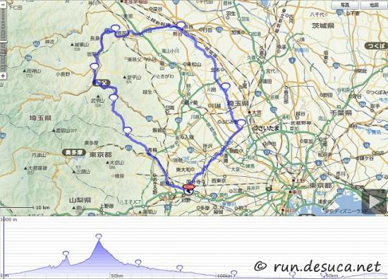 青梅、飯能、秩父、熊谷、荒サイ、200km 2015.5.26