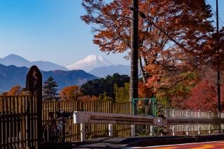 大垂水峠,自転車,富士山
