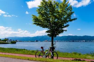 諏訪湖 ロード 自転車