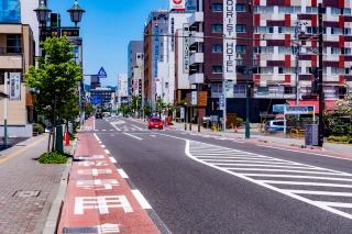 松本市 自転車レーン
