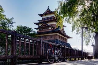 諏訪 高島城  ロードバイク