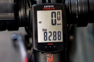 自転車走行距離 82.88km