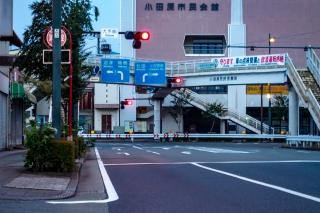 国道1号線 小田原市民会館前(小田原クランク)