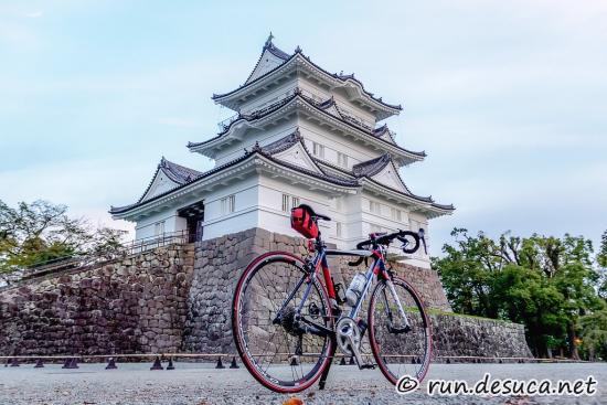 自転車で小田原城