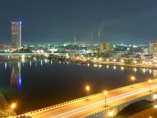 新潟 万代橋 夜景