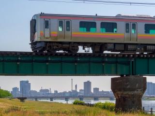 越後線 信濃川橋梁